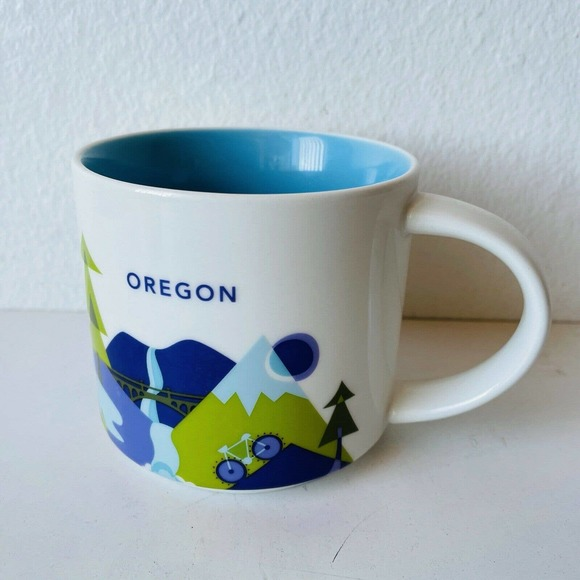 Starbucks Oregon Coffee Mug You Are Here YAH 14oz